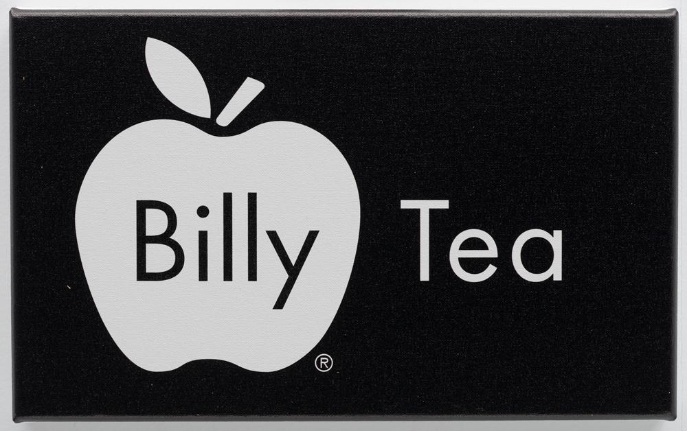 Billy Apple ®, Tea, 2016, UV impregnated ink on canvas, 236mm x 382mm