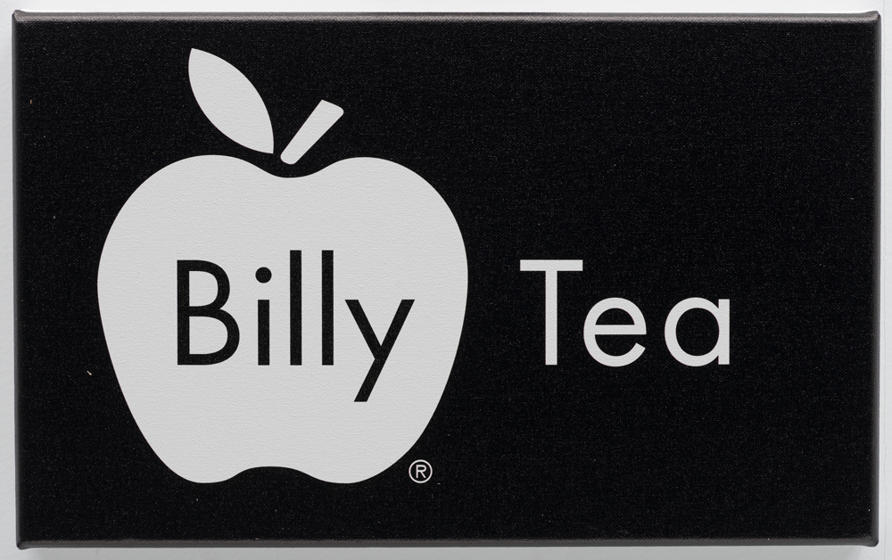 Billy Apple ®, Tea, 2016, UV impregnated ink on canvas, 236mm x 382mm