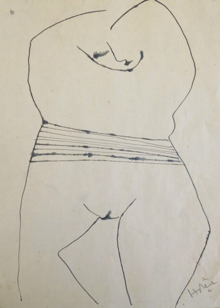 Nude, 1971, ink, 290 x 205mm