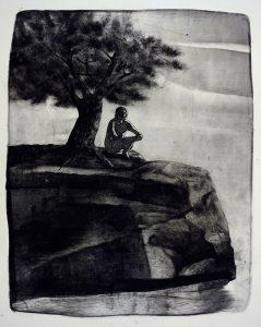 Idle Friday, 2017, monoprint, 325 x 257mm