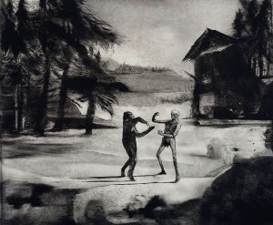 The Dance, 2017, monoprint, 260 x 308mm