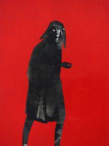 The Redcap, 2017, monoprint, 510 x 360mm