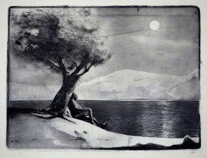 Twilight of Reason, 2017, monoprint, 200 x 265mm
