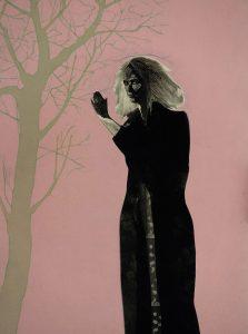 Vanadium Tree, 2017, monoprint, 510 x 360mm