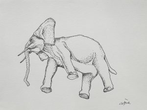 Elephant, 2013, ink on paper