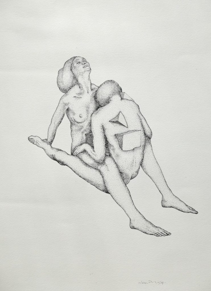 Interlock, 1974, ink on paper