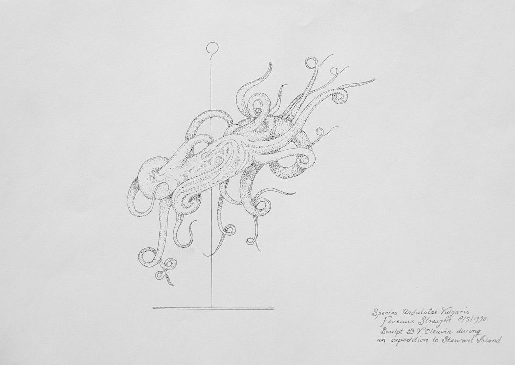Undulata Vulgaris, 1990, ink on paper