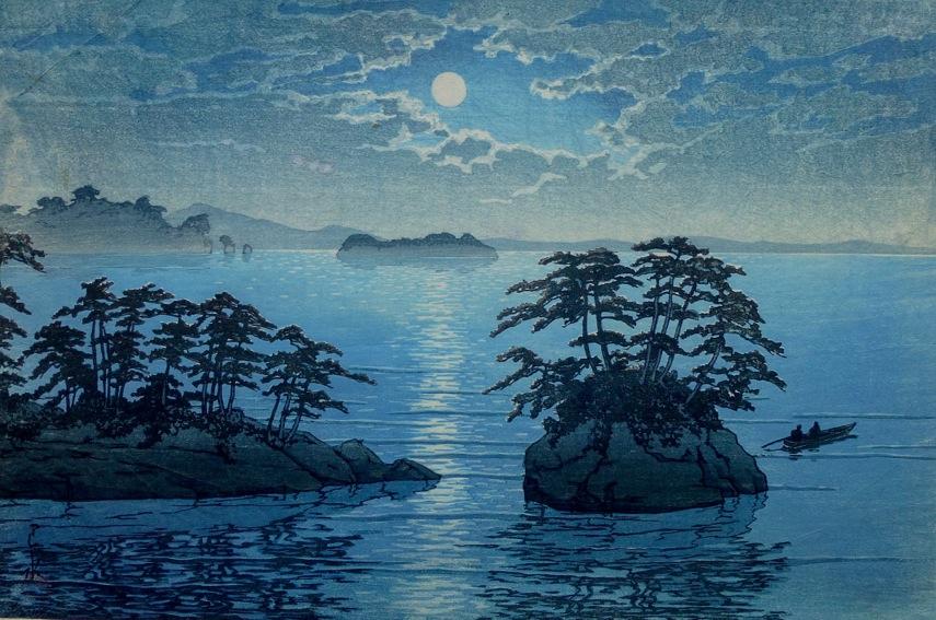 Kawase Hasui - Matsushima, Futagojima, 1933.