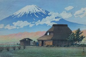 Kawase Hasui - Mount Fuji, Narusawa, 1936
