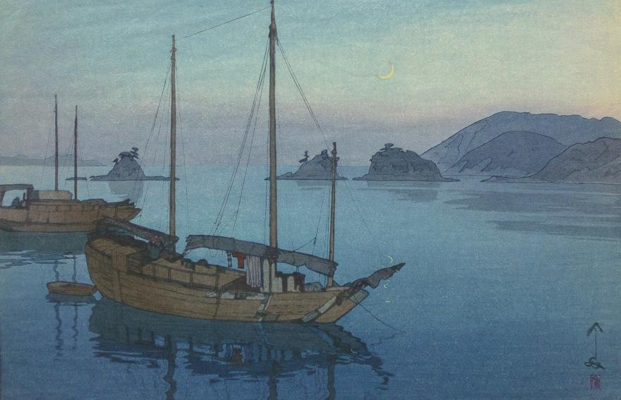 Hiroshi Yoshida, Three Little Islands, c. late 1920's.