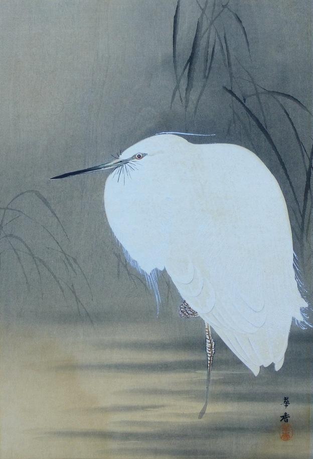 Kako Tsuji - Snowy Egret, c. 1921