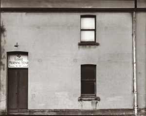 Lodge Morning Star #129, Mornington, Dunedin, May 1979. [silver gelatin, gold & selenium toned 1979]