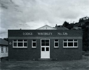 Lodge Waverly # 226, Anderson's Bay, Dunedin, November 1981. [silver gelatin gold & selenium toned, 1981/2014/2 of 4]