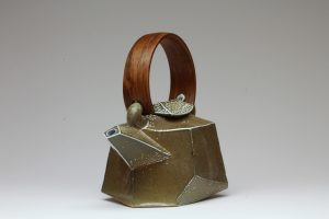 Chris Weaver - Faceted Teapot, salt glazed, 2017