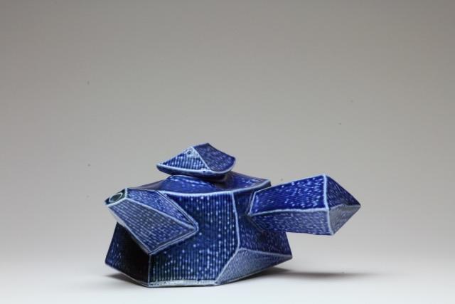 Chris Weaver - Faceted Teapot, salt glazed, 2017