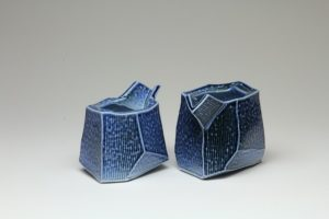 Chris Weaver - Faceted Pourers, salt glazed, 2017
